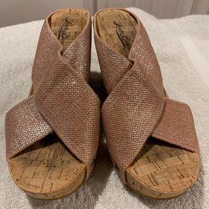 lucky brand LK-miller fabric cork platform sandal
